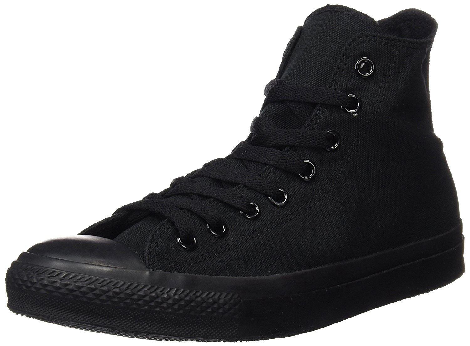 Converse Unisex Chuck Taylor All Star High Top Sneakers Black/White (6 B(M) US Women / 4 D(M) US Men, Black Monochrome)