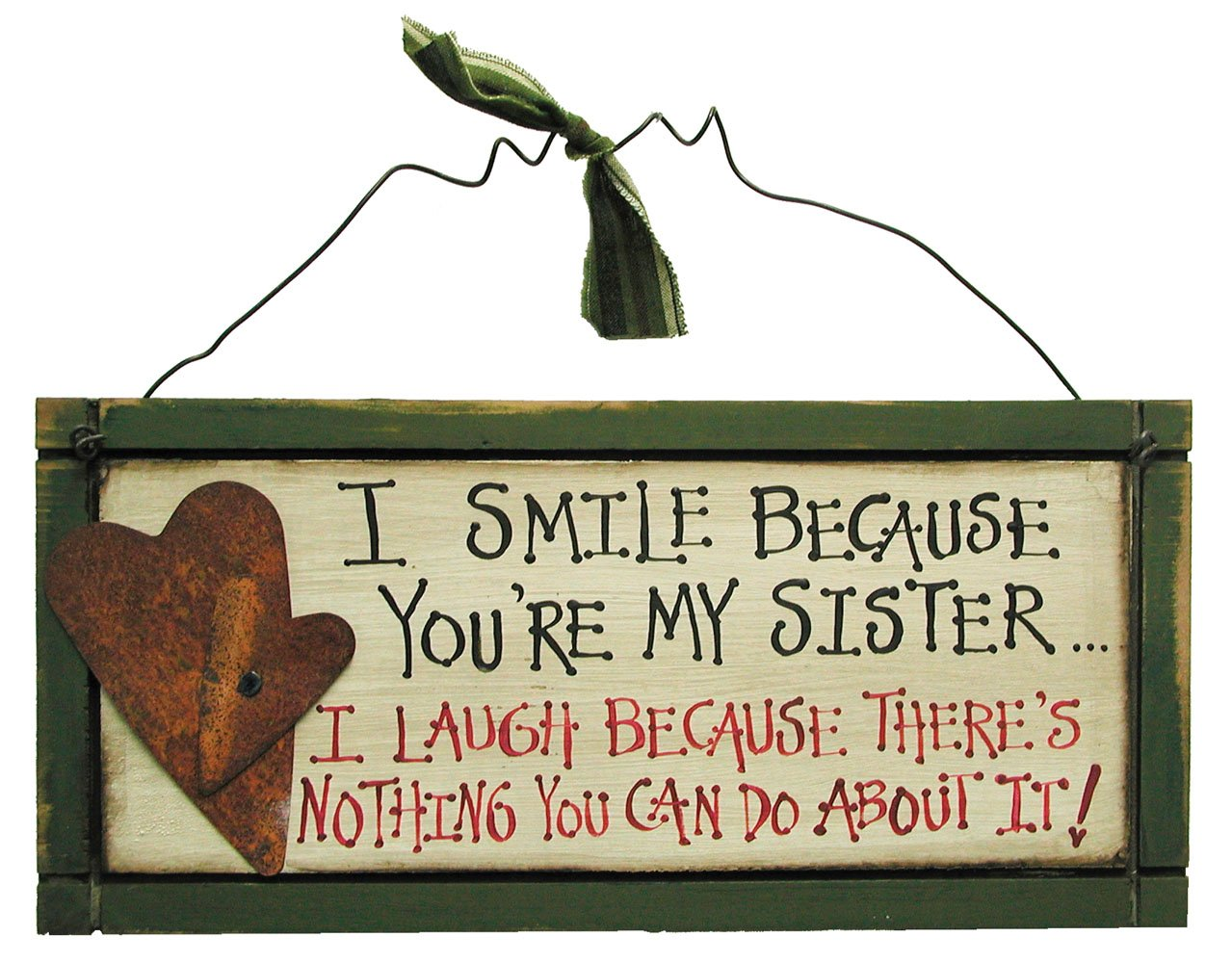 Ohio Wholesale Sister Sign Wall Art, from our Everyday Collection by Ohio Wholesale (Image #1)
