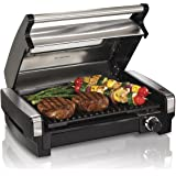 Hamilton Beach Electric Indoor Searing Grill with Viewing Window and Removable Easy-to-Clean Nonstick Plate, 6-Serving, Extra