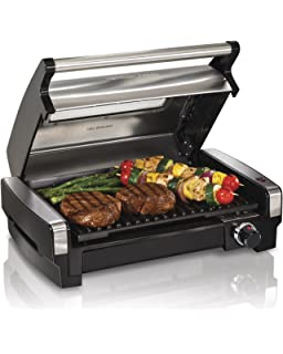 Hamilton Beach (25361) Electric Indoor Grill & Searing Grill with Removable Plates and Viewing