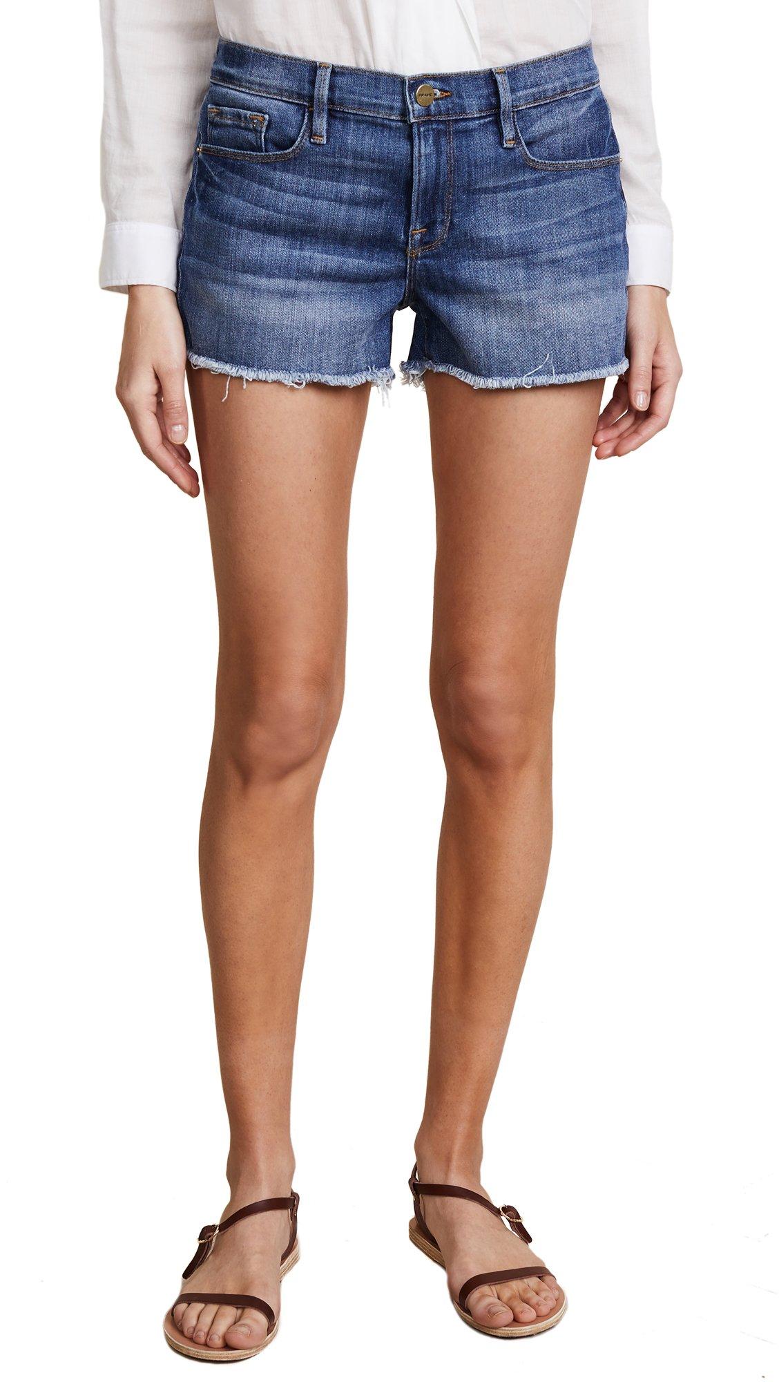 FRAME Women's Le Cutoff Shorts, Aldred, 28
