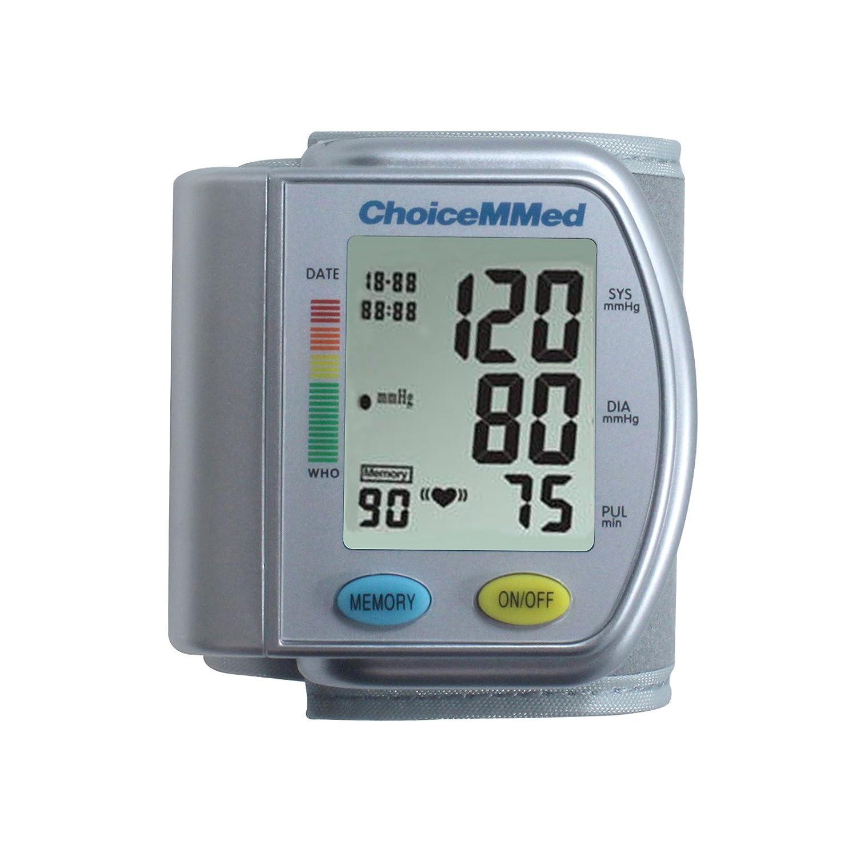 Choi cemmed presupuesto de la muñeca Tensiómetro para la medición vollautomatischen presión arterial y pulso con hypertonie indicador de alarma y ...