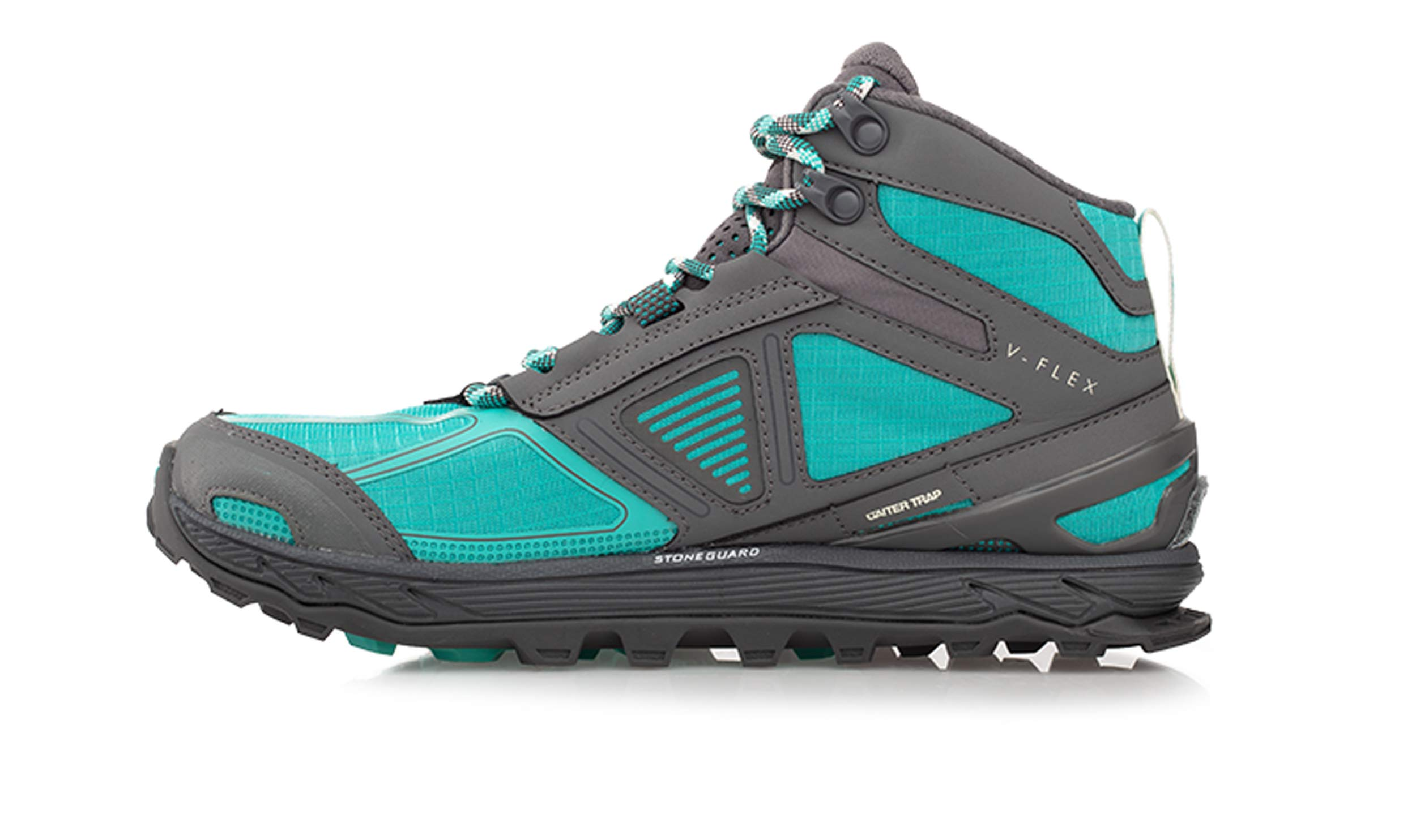 Altra Women's Lone Peak 4 Mid Mesh Trail Running Shoe, Teal/Gray - 6 B(M) US by Altra (Image #2)