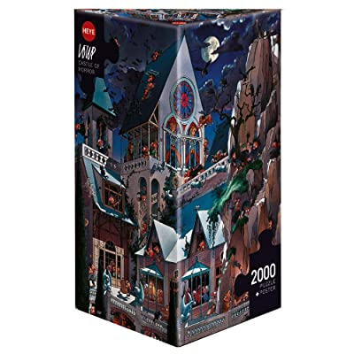 Heye Puzzles - Triangular , 2000 Pc - Castle of Horror, Loup: Toys & Games
