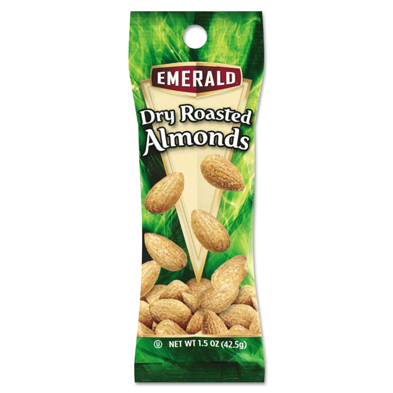 Emerald 84170 Dry Roasted Almonds, 1.5 oz. Tube Package, 12/Box