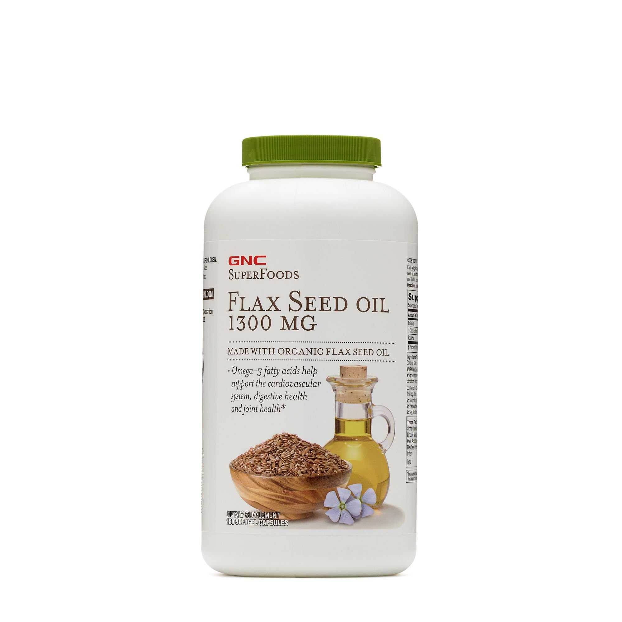 GNC SuperFoods Flax Seed Oil 1300 MG