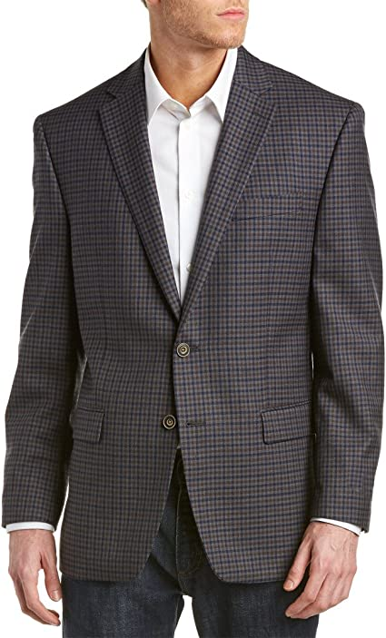 Austin Reed Men S Grey Plaid Wool Blazer Us 40r At Amazon Men S Clothing Store