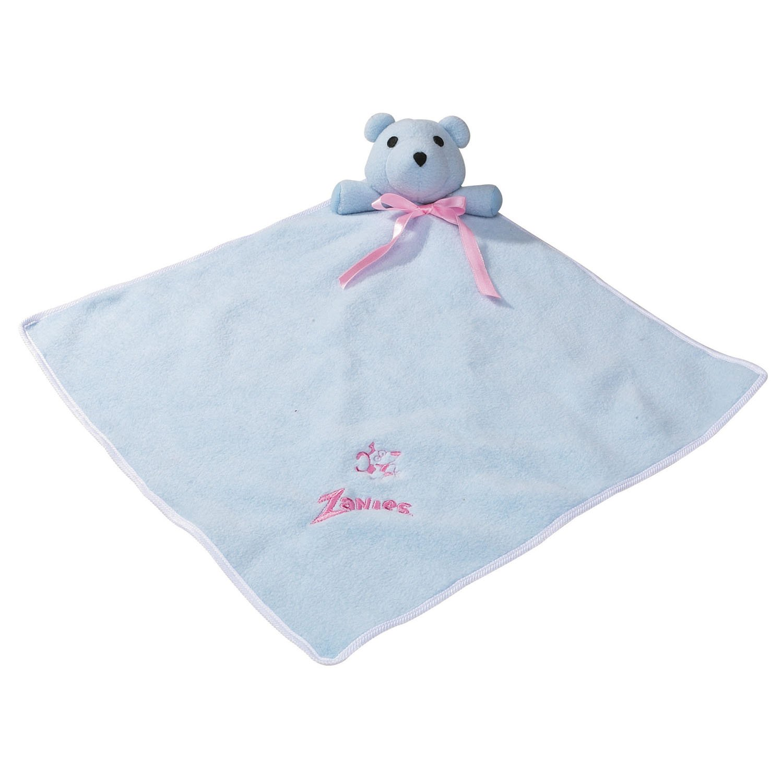 Zanies Snuggle Bear Blanket Dog Toys, Blue