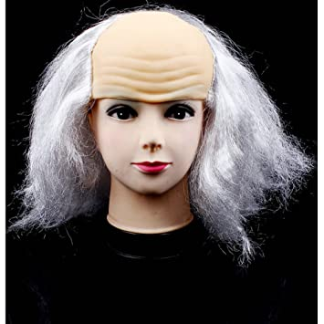 beron bald head wigs for halloween costume white