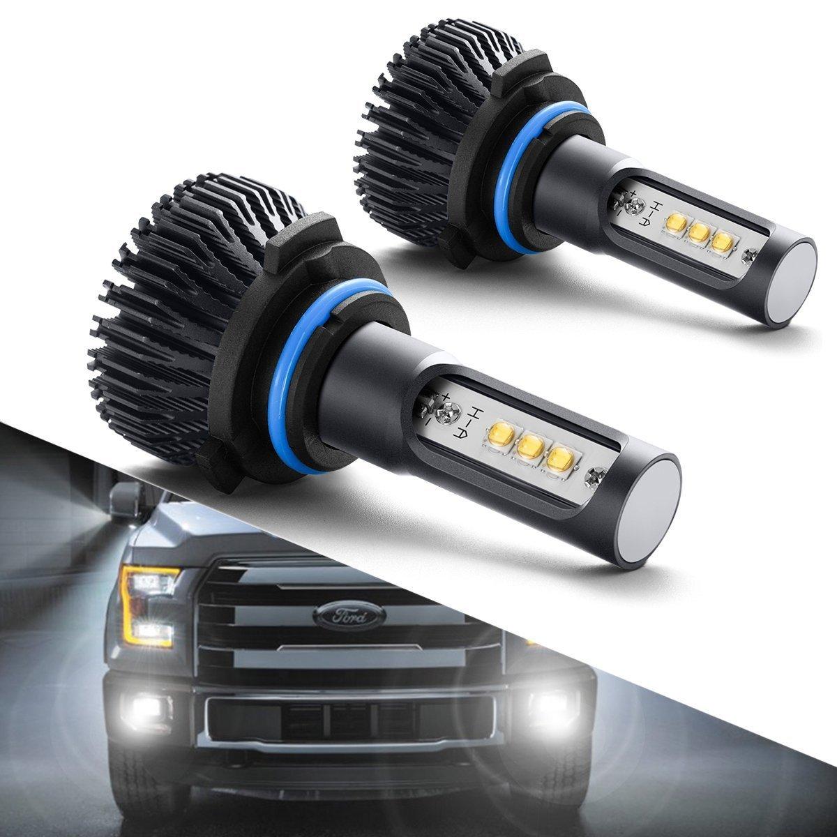 H11/H16/H8 LED Fog Lights Bulbs or DRL, DOT Approved, SEALIGHT Xenon White 6000K, 12 x CREE LED Chips