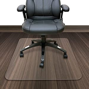 "Azadx PVC Chair Mat for Hard Floor, Transparent Computer Chair Floor Protector for Office and Home, 36"" x 48"" Rectangular Multi-Purpose Floor Protection"