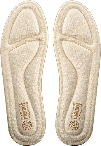Riemot Plantillas Memory Foam Para Zapatos De Hombre Y Mujer Plantillas Para Zapatillas Botas Cómodas Y Amortiguación Para Trabajo Deportes Caminar Senderismo Amazon Es Zapatos Y Complementos