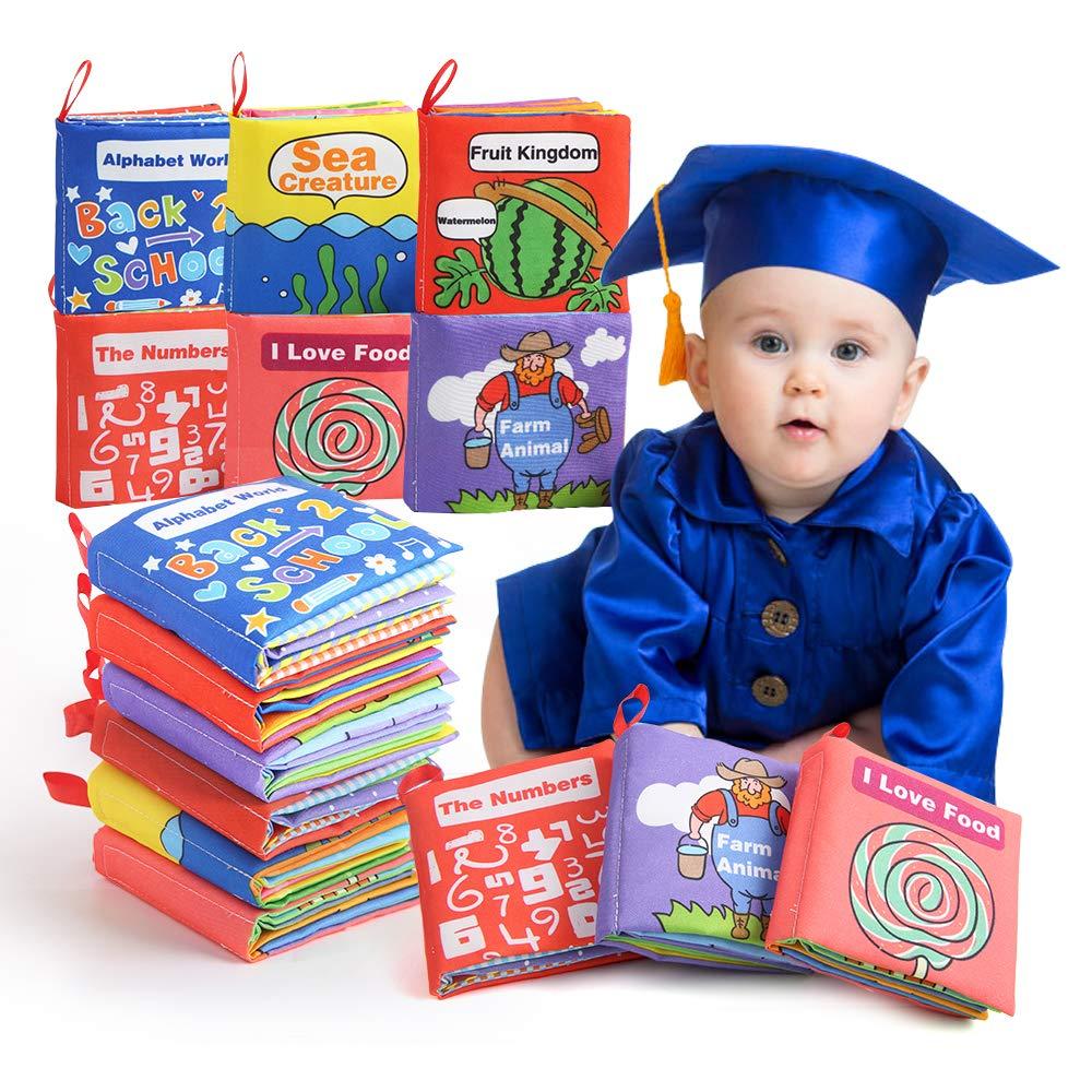 BeebeeRun Libro Blando de Beb/é,Activity Libro de Tela Reci/én Nacido Juguetes Bebes 1 A/ño,Educaci/ón Temprana Juguete para Beb/é Ni/ños