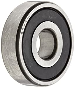 NSK 6201VVC3 Deep Groove Ball Bearing, Single Row, Double Non-Contact Seals, Pressed Steel Cage, C3 Clearance, Metric, 12mm Bore, 32mm OD, 10mm Width, 22000rpm Maximum Rotational Speed, 686lbf Static Load Capacity, 1529lbf Dynamic Load Capacity