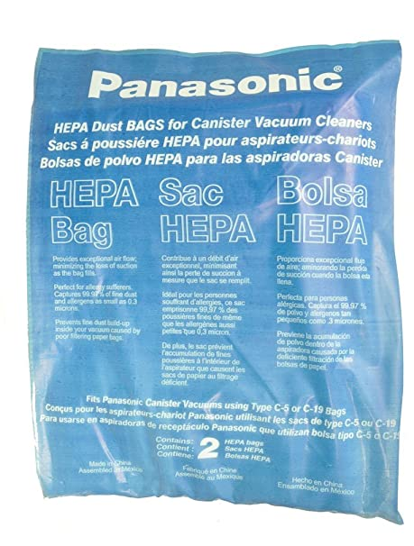 Panasonic tipo C-19 bolsas al vacío para aspiradoras: Amazon ...