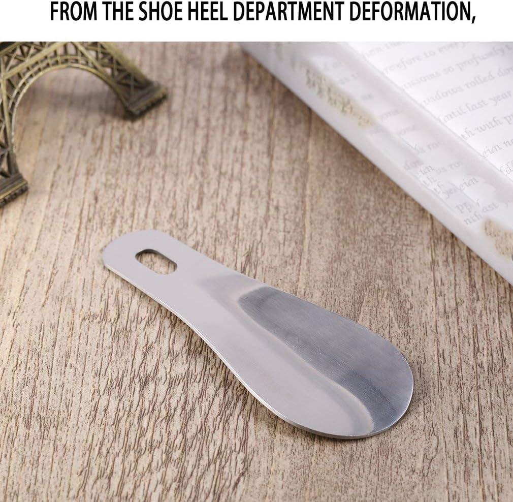 Prinsong Cuchara de Zapato Profesional de Acero Inoxidable de 10,2 cm Cuchara Larga para Zapatos