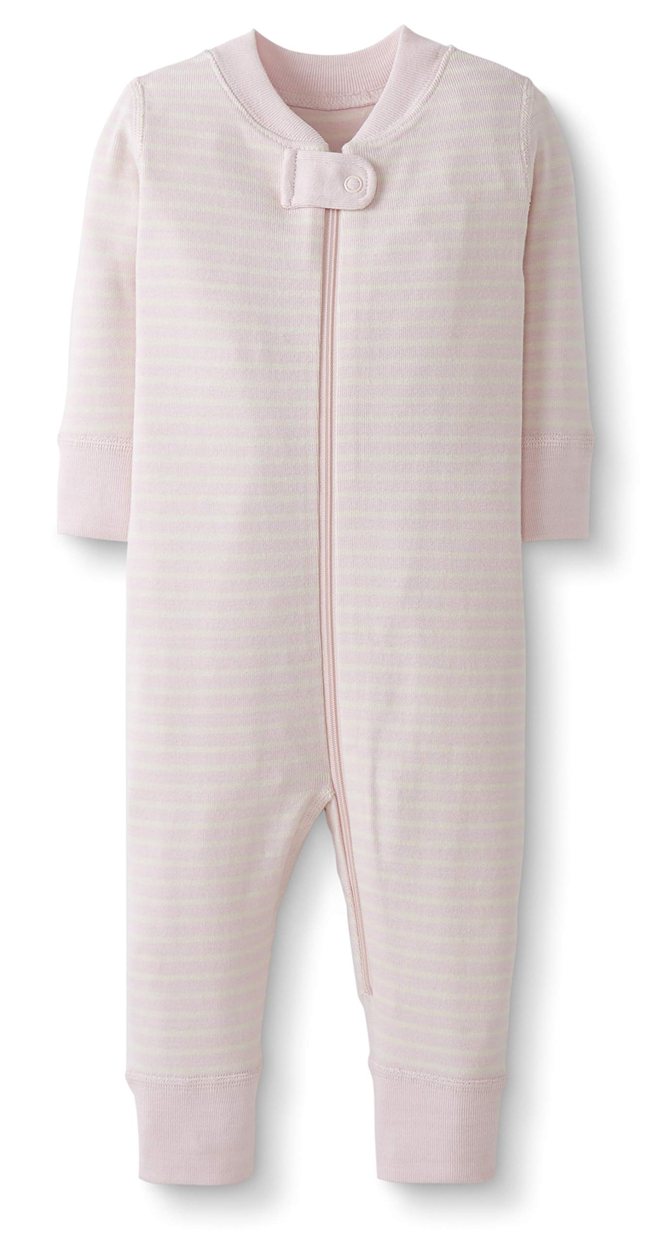 Moon and Back by Hanna Andersson Baby/Toddler One-Piece Organic Cotton Footless Pajamas, Pink Stripe, 18-24 months