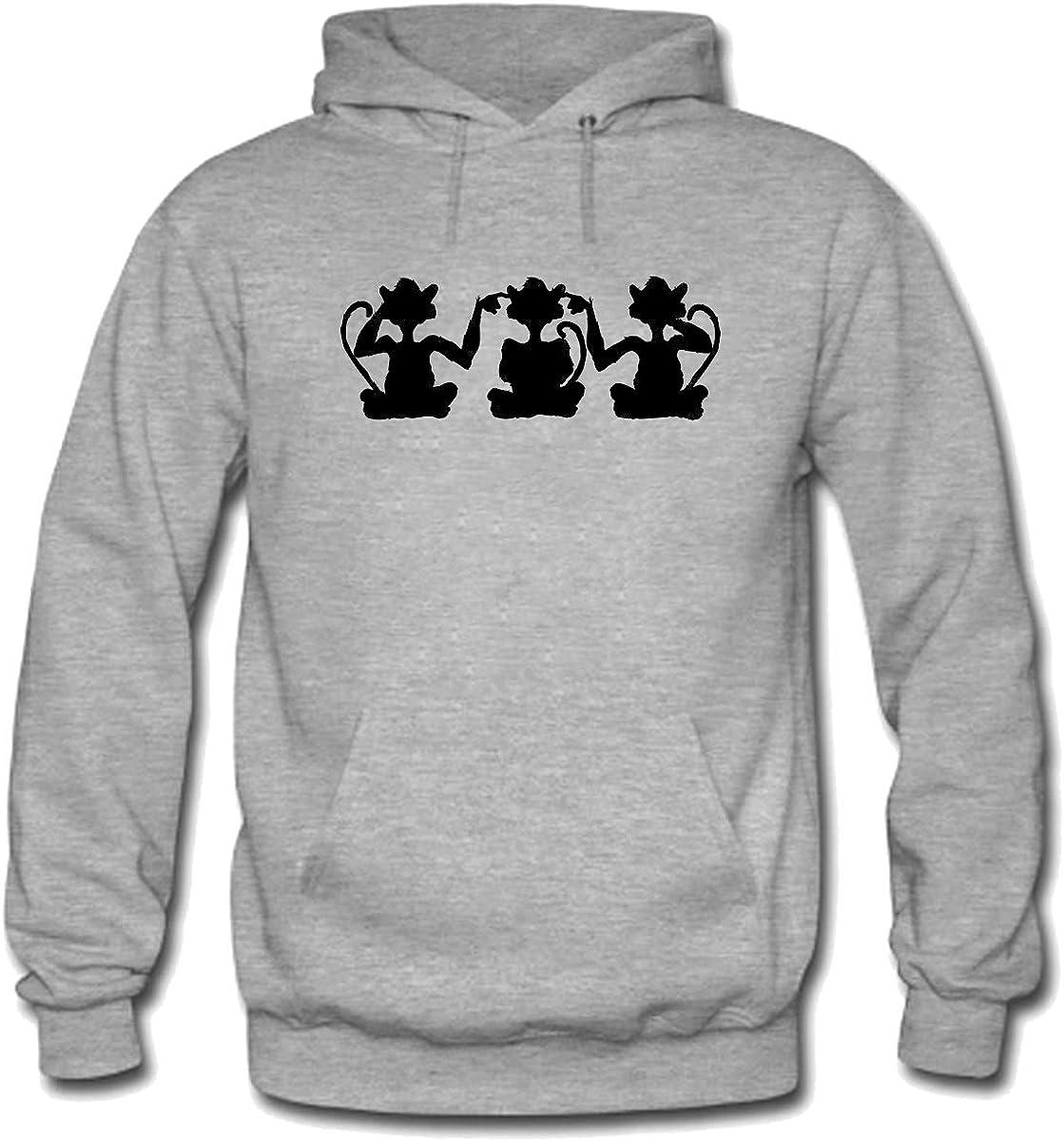 HearNo SpeakNo SeeNo Mens Pullover Hoodie Sweatshirt