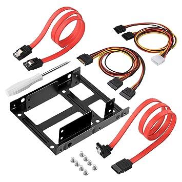 Kit AGPtek de 2x Abrazaderas para Montar SSD de 2.5 Pulgadas a ...