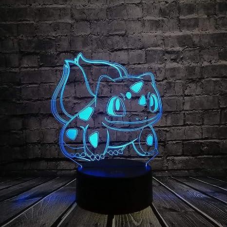Luz nocturna 3D Pokemon Walking Action Figure Luz RGB Pikachu ...