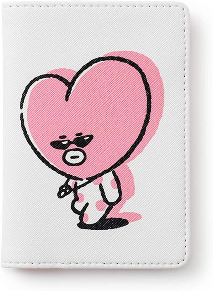 Blue BT21 Music Collection KOYA Character Cute Passport Holder Cover Wallet for Travel