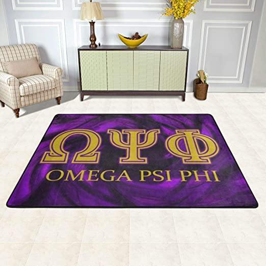 Amazon Com Hidreama Omega Psi Phi Bedroom Living Room Kitchen Floor Mats Home Decor Non Slip Floor Pad Rugs Fast Dry Rug Yoga Mat Throw Rugs Carpet 36 X24 Kitchen Dining