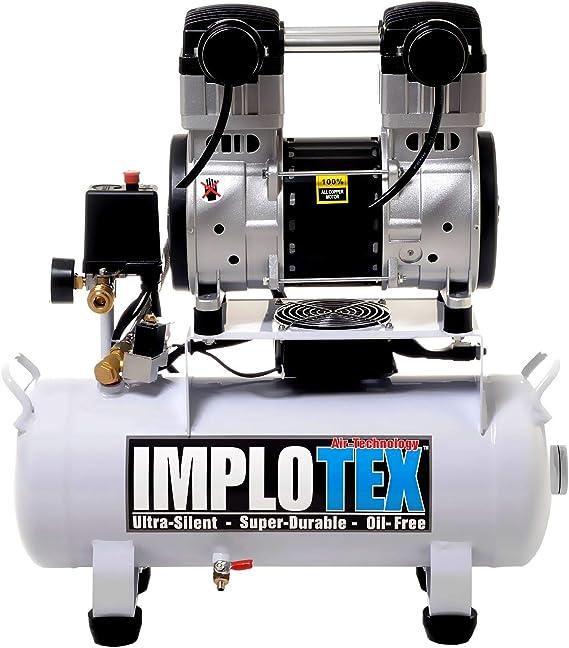 Inflotex - Compresor de aire silencioso (1500 W, 2 CV, 18 L ...
