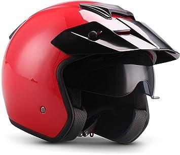 "Casco Jet Moto Helmets S77 ""Shiny Black (negro) para moto, estilo"