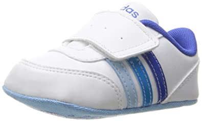 info for d5820 01fdb adidas Girls  V Jog Crib Sneaker, White Satellite Solar Blue, 1
