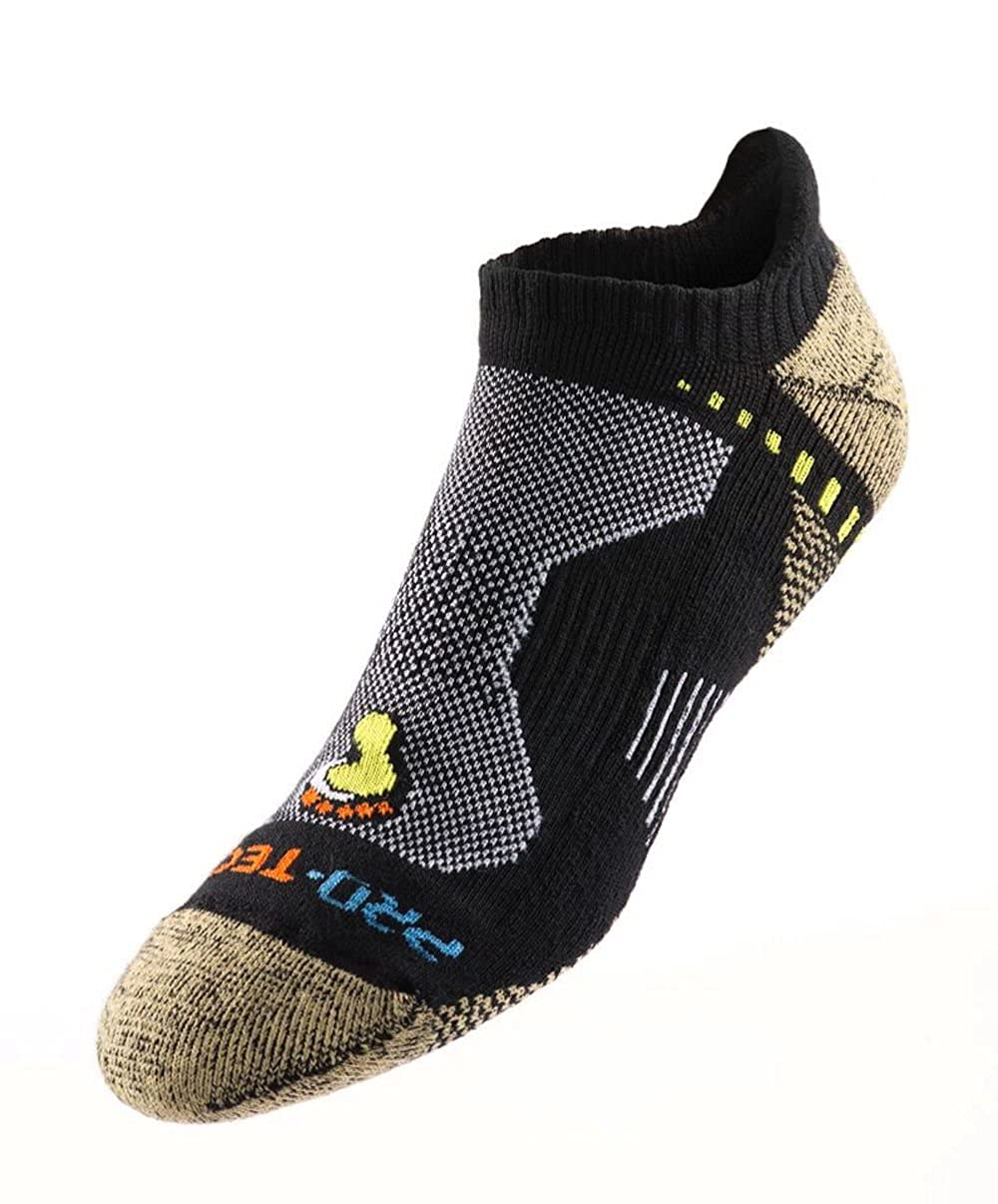 ProTect Men/'s Extreme Fitness Ultra No Show Socks 2-Pack With Heel Tab