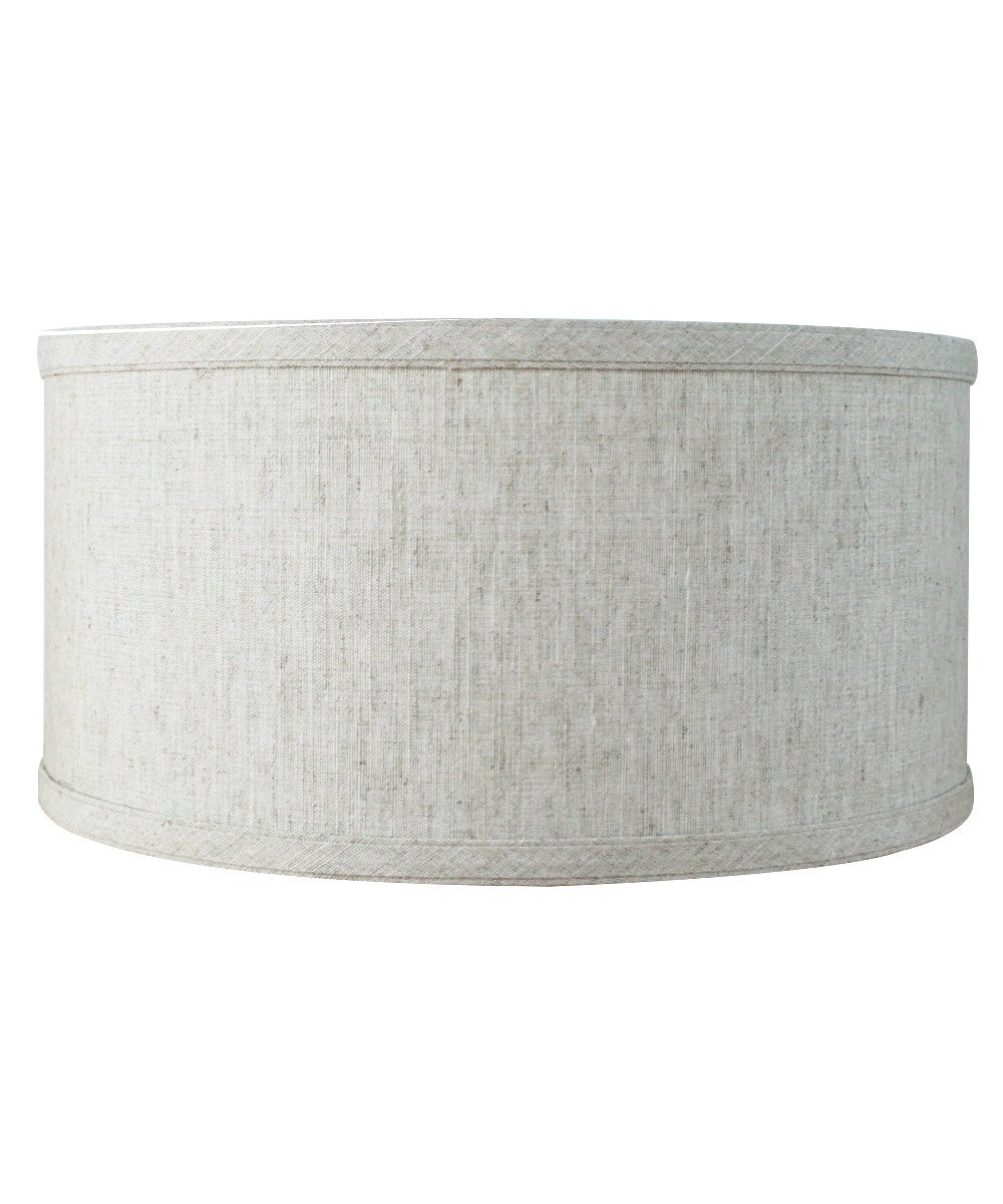 12x12x06 Shallow Drum Lampshade Textured Oatmeal with Brass Spider Fitter by Home Concept - Perfect for Table and Floor Lamps - Medium, Textured Oatmeal