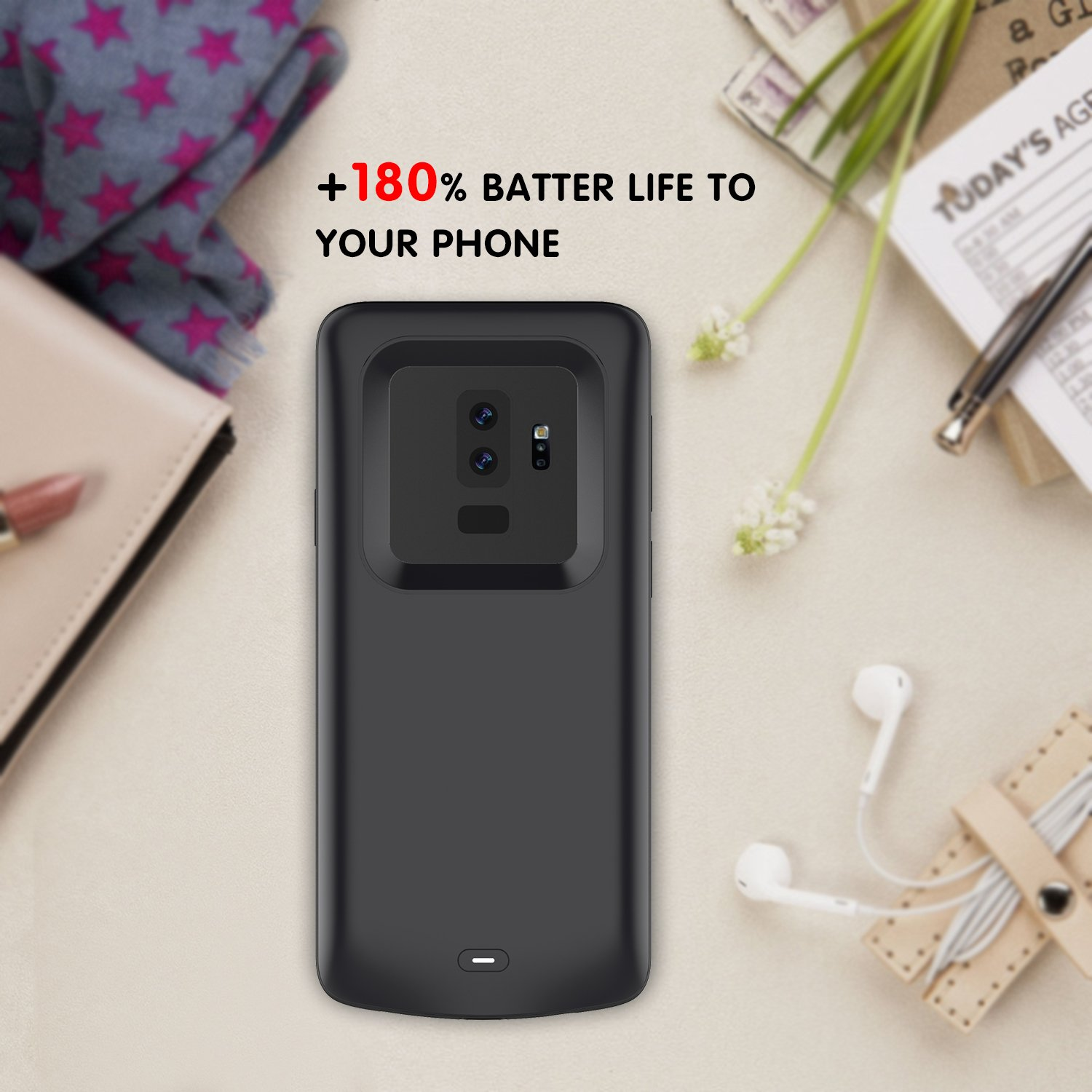 1c84aec2be7 Amazon.com: Galaxy S9 Plus Battery Case, Mpaltor 5200mAh Portable  Rechargeable Extended Backup Charging Juice External Power Bank Protective Battery  Case ...