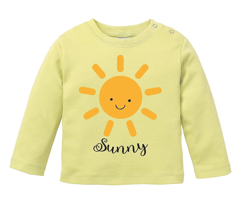 Baby Halstuch Niedliche Sonne mit Gesicht als Aufdruck Angry Shirts Sunny Motiv