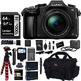 Panasonic LUMIX G85MK 4K Mirrorless Interchangeable Lens Camera Kit, 12-60mm Lens, Lexar U3 64GB Memory Card, 2 Spare Batteri