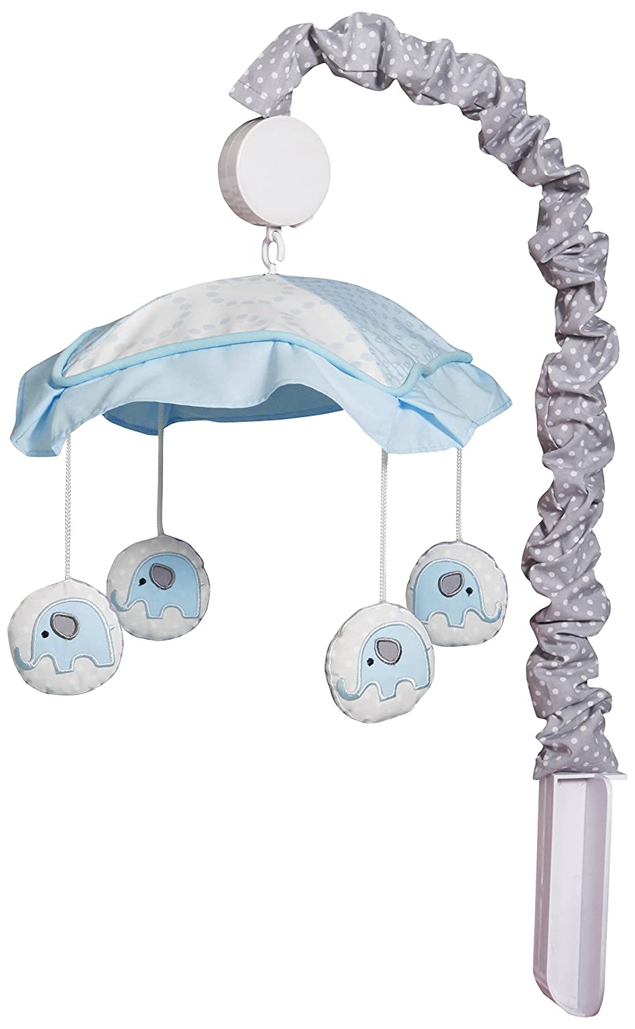 GEENNY OptimaBaby Blue Grey Elephant Musical Mobile GEENNY Baby CF-601-M