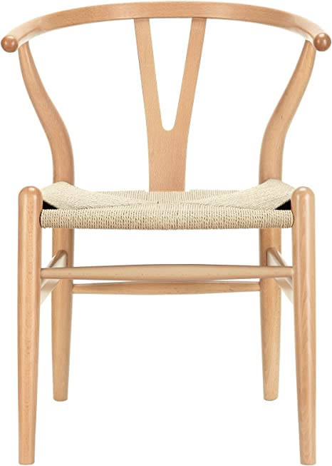 Amazon Com Modway Amish Mid Century Wood Kitchen And Dining Room Chair In Natural Chairs