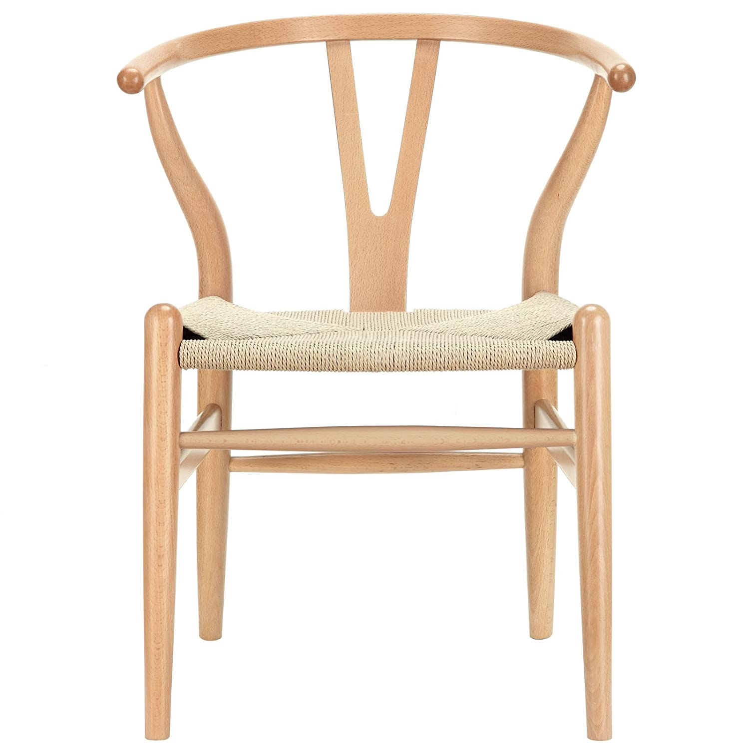Modway Amish Mid-Century Dining Armchair in Natural