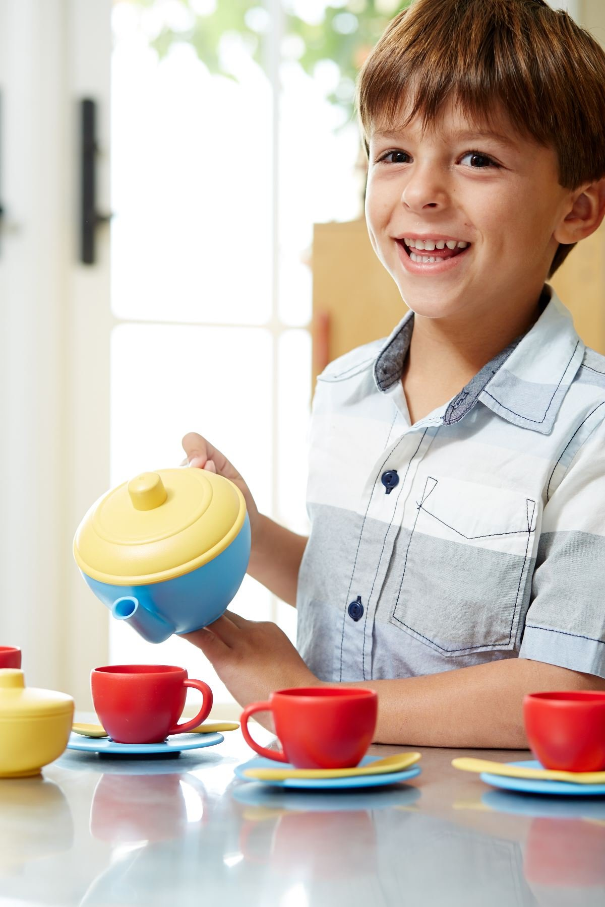 Blue//Red//Yellow Green Toys Tea Set