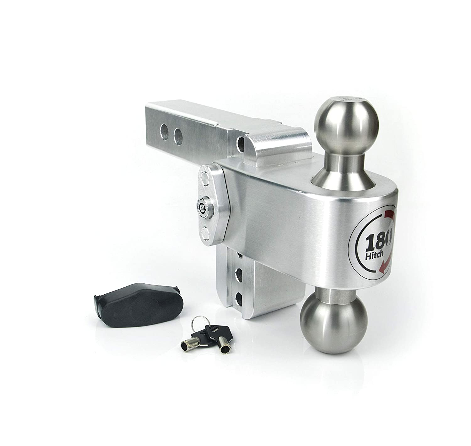 LTB8-2 Adjustable Drop Hitch with Key Lock 2 Shaft 8-inch Weigh Safe 180 Hitch