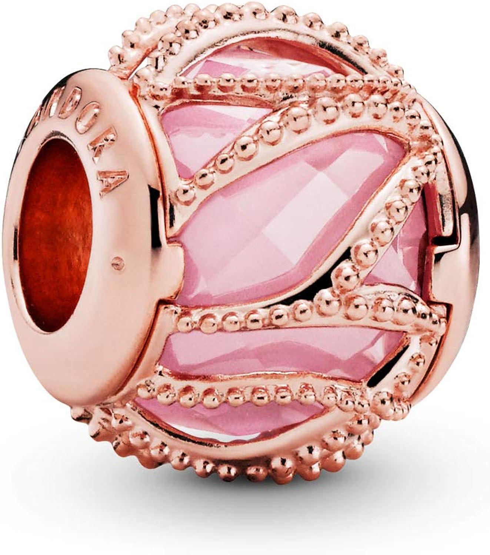 Amazon Com Pandora Jewelry Pink Intertwining Cubic Zirconia Charm In Pandora Rose Jewelry