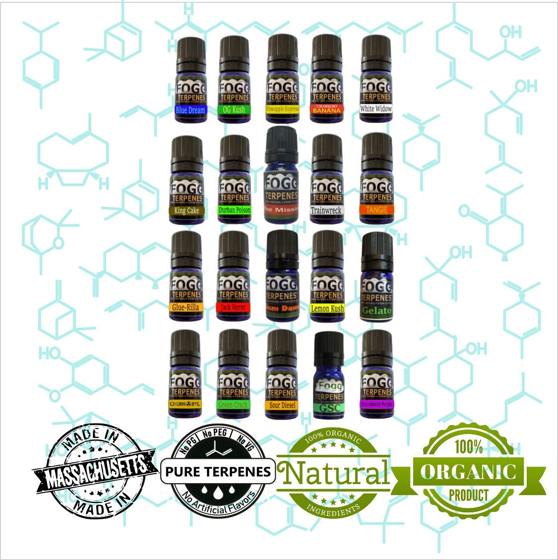FOGG Terpenes - Complete Collection (5 ml) by FOGG Terpenes