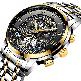 382579270bf Mens Watches Top Luxury Brand LIGE Fashion with Date Business Luxury Dress  Automatic Mechanical Wristwatch Waterproof