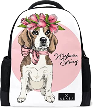 My Daily Funny Beagle Dog Backpack 14 Inch Laptop Daypack Bookbag for Travel College School