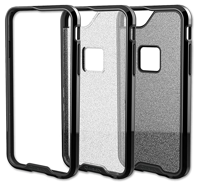 Qmadix R Series Case for iPhone 6 Plus - Retail Packaging -  Black/Clear/Glitter