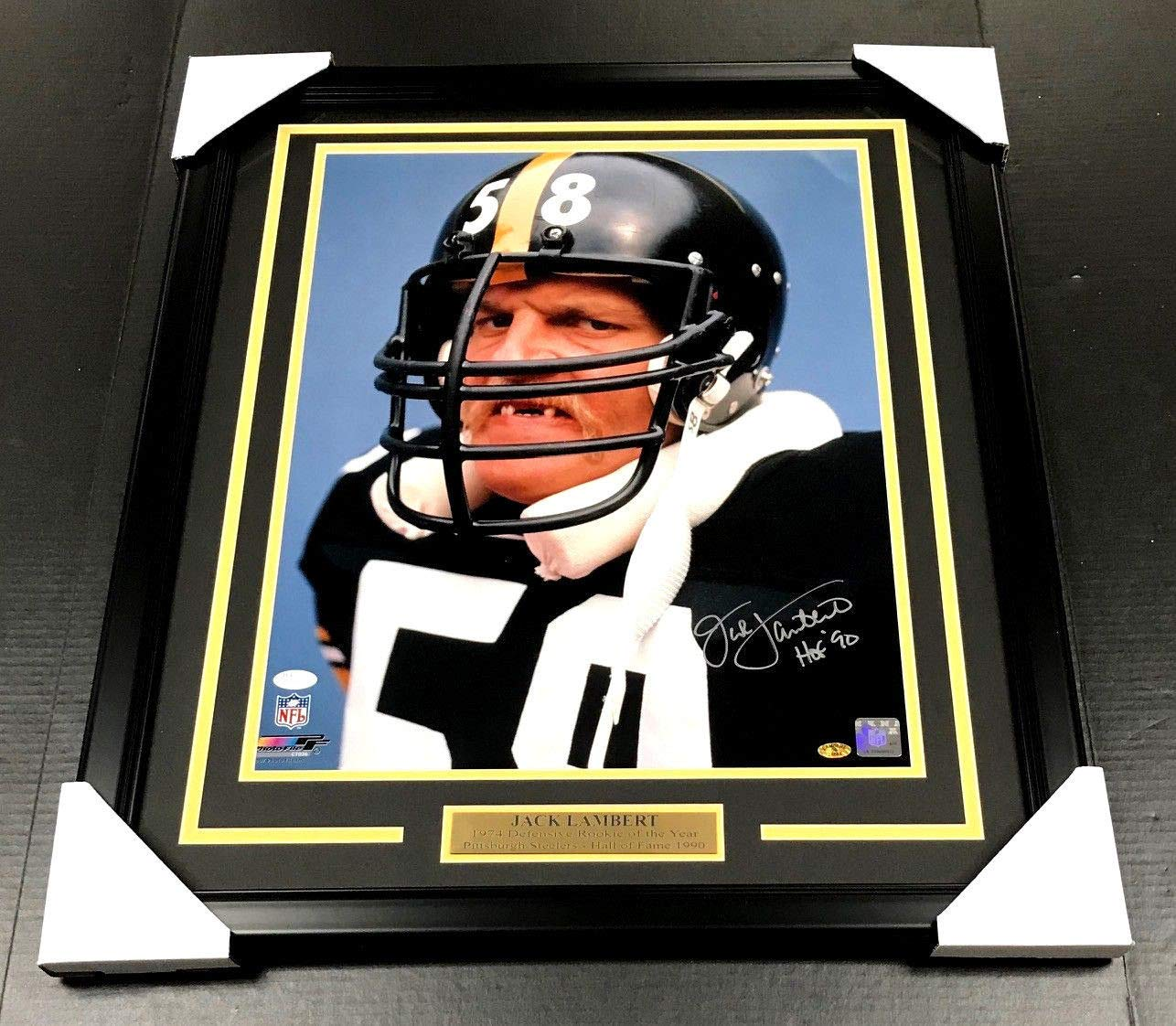 7f9f94ff064 Jack Lambert Autographed Signed Framed 16x20 Photo JSA COA Pittsburgh  Steelers at Amazon s Sports Collectibles Store