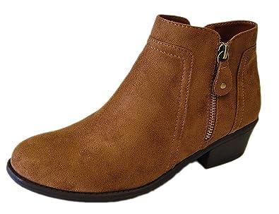 Women's Tildon-06 Suede Low Heel Ankle Bootie