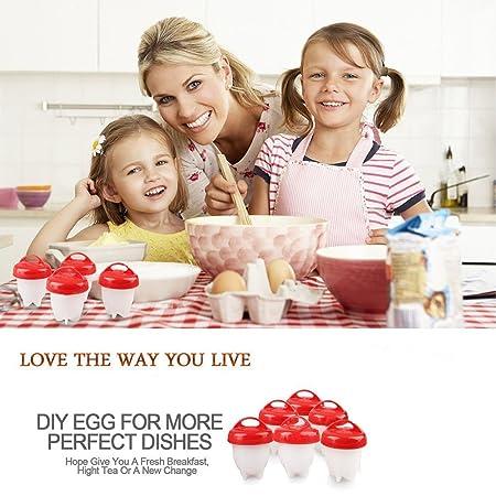 Love77 - Cuecehuevos de Silicona Antiadherente, 6 Unidades ...