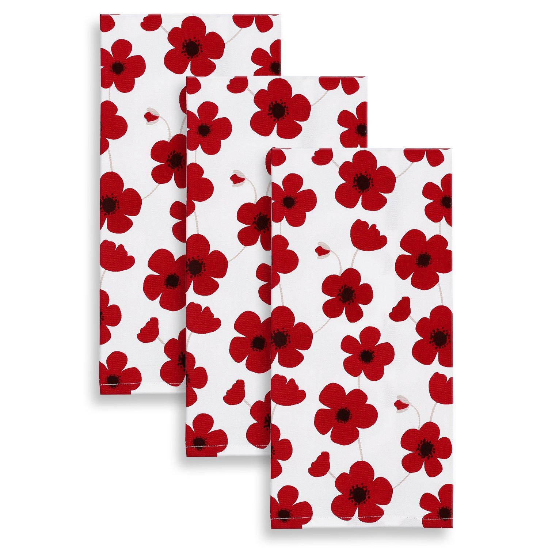 Vibrant Red Poppy Bathroom Accessories