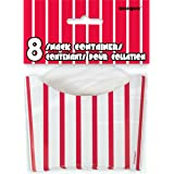 Red & White Striped Paper Snack Containers, 8ct