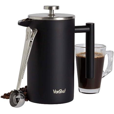 Amazon.com: VonShef - Cafetera de acero inoxidable con ...